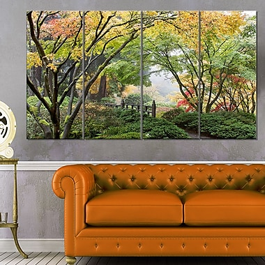 Maple Tree Canopy by Bridge Photography Metal Wall Art, 48x28, 4 Panels, (MT6495-271)