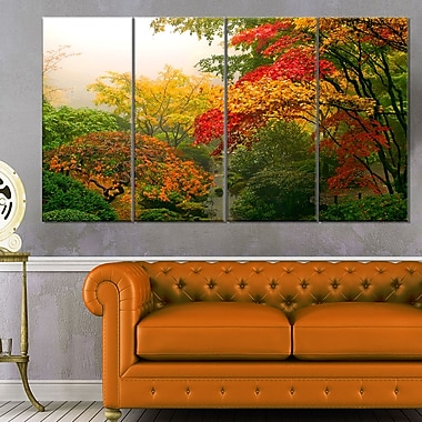 Colourful Maple Trees Floral Photography Metal Wall Art, 48x28, 4 Panels, (MT6497-271)