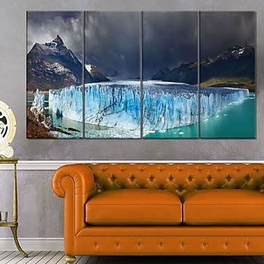 Perito Moreno Glacier Photography Metal Wall Art, 48x28, 4 Panels, (MT6501-271)