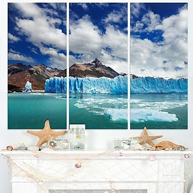 Perito Moreno Glacier Photography Metal Wall Art, 36x28, 3 Panels, (MT6507-36-28)