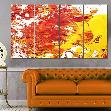 Textured Red and Yellow Art