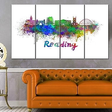 Reading Skyline Cityscape Metal Wall Art, 48x28, 4 Panels, (MT6554-271)
