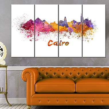 Cairo Skyline Cityscape Metal Wall Art, 48x28, 4 Panels, (MT6560-271)