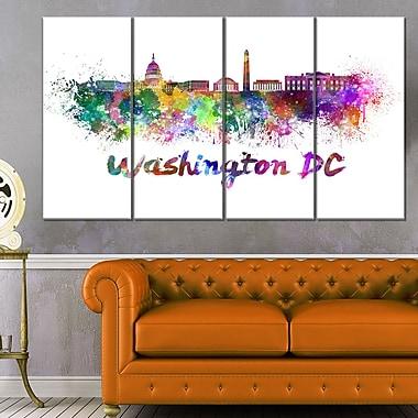Washington DC Skyline Cityscape Metal Wall Art, 48x28, 4 Panels, (MT6572-271)
