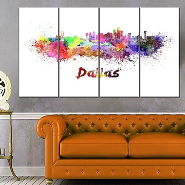 Dallas Skyline Cityscape Metal Wall Art