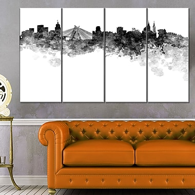 Sao Paulo Skyline Cityscape Metal Wall Art, 48x28, 4 Panels, (MT6585-271)