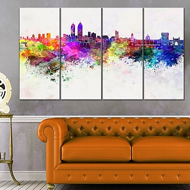 Mumbai Skyline Cityscape Metal Wall Art, 48x28, 4 Panels, (MT6589-271)