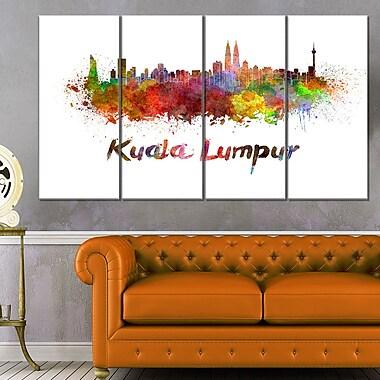 Kuala Lumpur Skyline Cityscape Metal Wall Art, 48x28, 4 Panels, (MT6603-271)