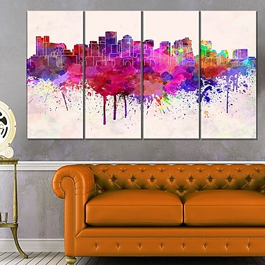 Boston Skyline Cityscape Wall Art