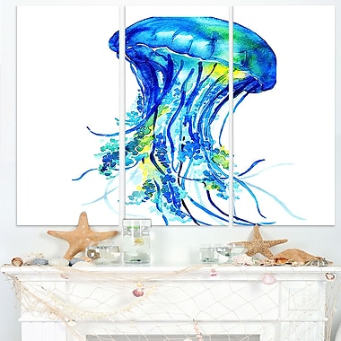 Ocean Water Jellyfish Animal Digital Metal Wall Art