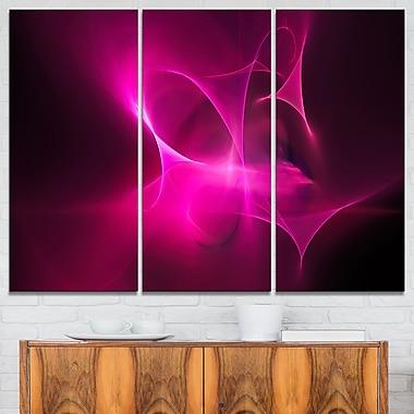 Magenta Fractal Desktop Wallpaper Metal Wall Art, 36x28, 3 Panels, (MT7722-36-28)