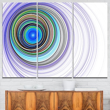 Endless Tunnel Purple Ripples Abstract Metal Wall Art, 36x28, 3 Panels, (MT7723-36-28)