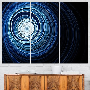 Endless Tunnel Light Blue Ripples Metal Wall Art, 36x28, 3 Panels, (MT7724-36-28)