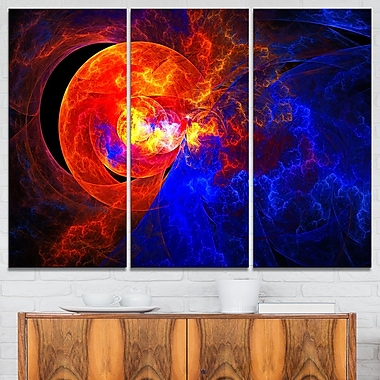 Sunrise on a Distant Planet Abstract Metal Wall Art, 36x28, 3 Panels, (MT7726-36-28)