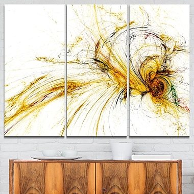 Yellow Spiral Galaxy Abstract Metal Wall Art, 36x28, 3 Panels, (MT7727-36-28)