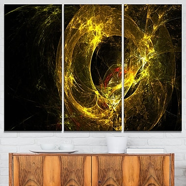 Far Spherical Galaxy Golden Abstract Metal Wall Art