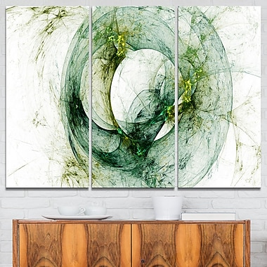 Far Spherical Galaxy Brown Abstract Metal Wall Art, 36x28, 3 Panels, (MT7729-36-28)