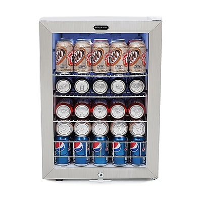 Whynter BR-091WS Freestanding Beverage Refrigerator With Lock - Stainless Steel 90 Can Capacity