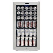 Whynter BR-128WS Freestanding Beverage Refrigerator With Lock - Stainless Steel 120 Can Capacity