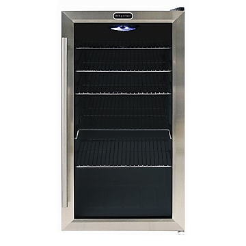 Whynter BR-130SB Freestanding 120 Can Beverage Refrigerator with Internal Fan
