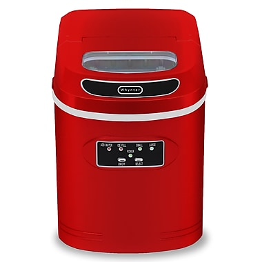 Whynter Compact Portable Ice Maker 27 lb capacity - Red (IMC-270MR)