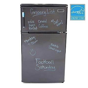 Whynter 3.1 Cu. Ft. Refrigerator w/Freezer, Black (MRF-310DB)