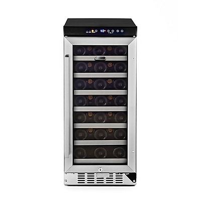 Whynter 33 Bottle Single Zone Built-In Wine Refrigerator with Stainless Steel Door ( BWR-33SD)