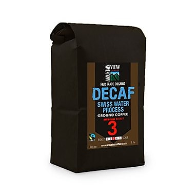 Mountain View Coffee Fair Trade Decaf Swiss Water Process Ground Coffee, 1 lb, 6/Pack (FTDECG1C)