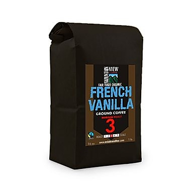 Mountain View Coffee Fair Trade French Vanilla Ground Coffee, 1 lb, 6/Pack (FTFVG1C)