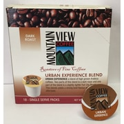 Mountain View Coffee Fair Trade Urban Experience Coffee Keurig Compatible Refills, 216/Pack (FTURK)