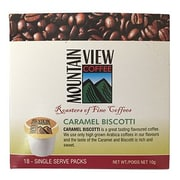Mountain View Coffee Fair Trade Caramel Biscotti Coffee Keurig Compatible Refills, 216/Pack (FTCABK)