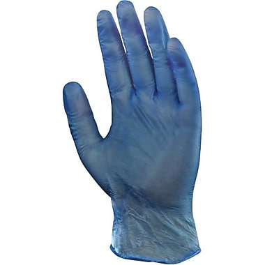 Ansell Gloves, Vinyl, Powdered, 5 Mil, Blue, 1000/Pack, Size L (119067)