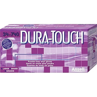 Ansell Dura-Touch Vinyl, Powder Free Gloves 1000/Pack Sm (105056)