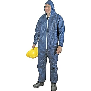 Polypropylene Elastic Wrist/Ankle/Hood Coverall, Heavy Weight, Blue, 3XL, 25/Pack (C71540207)