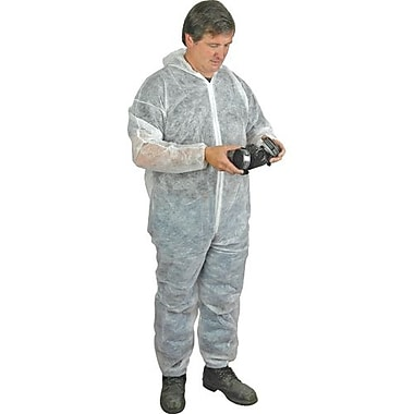 Polypropylene Coverall, w/Hood, Elastic Wrist/Ankle, Regular Weight, 3XL, 50/Pack (C71501107)