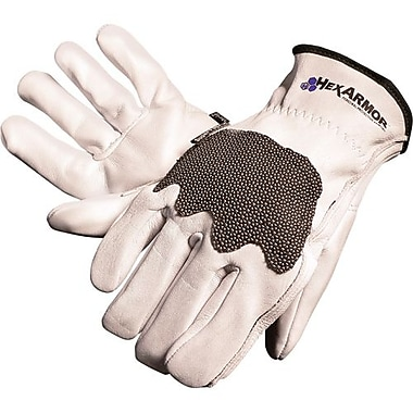 Hexarmor Glove, Cut Resistant, Steel Leather Iii, Size Med (5033-M)