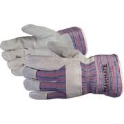 Superior Glove, Works Ltd. - Gants d'installateur Crewmate en cuir fendu, très grand, 6 paires/paquet (66 BFTLWTXL)