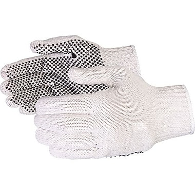 Superior Glove, Works Ltd. Glove, String Knit Cotton/Lycra PVC Dot Palm Small 36 Pairs/Pack (SQQD/S)