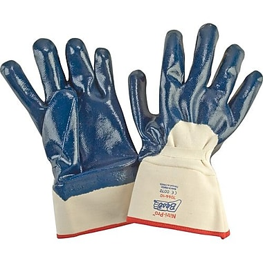 Showa Best Glove, Nitrile Glove, Palm Coat, Safety Cuff, Smooth, Size 9, 12 Pairs/Pack (7066-9)