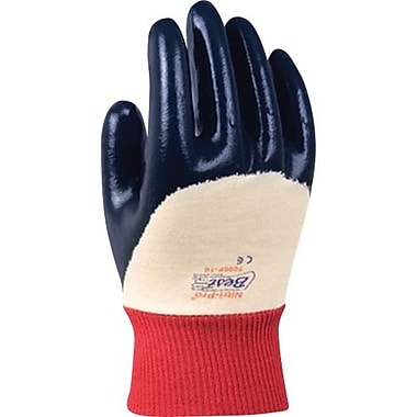 Showa Best Glove, Nitrile Glove, Palm Coat, Safety Cuff, Rough, Size 8, 12 Pairs/Pack (7066-R-8)