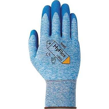 Ansell Glove, Nitrile Palm Coated, Blue, Black Nylon Liner, Size 6, 12 Pairs/Pack (104456)