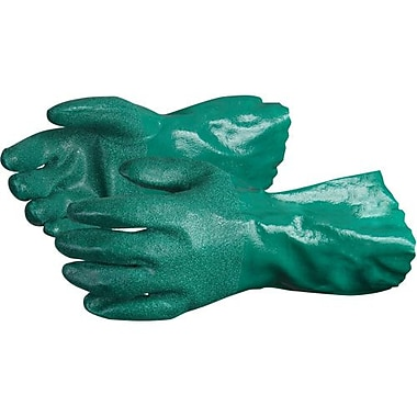 Superior Glove, Works Ltd. Gloves Nitrile Coated Porcelain Grip Green, Size L 12 Pairs/Pack (NT230L)