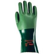 "Ansell Glove, Neoprene, Full Coat, 1"" Rough, Green, Size 8, 6 Pairs/Pack (103624)"