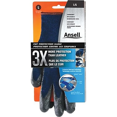 Ansell Glove, Kevlar, Retail, Foam Nitrile, Ansi Cut 4, Size 10, 6 Pairs/Pack (104908)