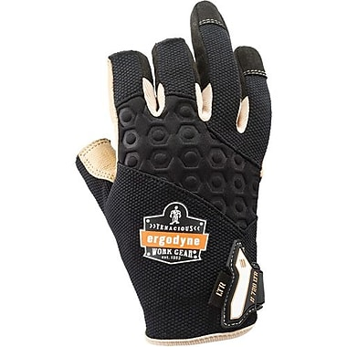 Ergo dyne Gloves 720 Ltr Leather-Reinforced Framing L, 2 Pairs/Pack (17154)
