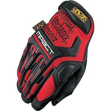 Mechanix Wear Glove, M-Pact Black/Red, Size 11, 2 Pairs/Pack (MPT-52-011)