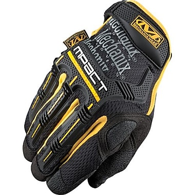 Mechanix Wear Glove, M-Pact Black/Yellow, Size 8, 2 Pairs/Pack (MPT-51-008)