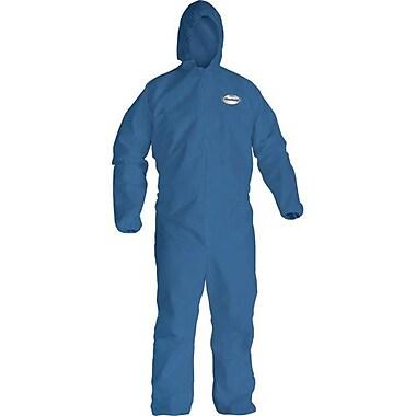 Kimberly-Clark Coveralls A20, Blue, w/Zip Elastics Hood XXXL, 12/Pack (58516)