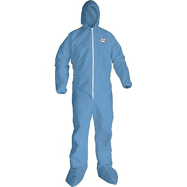 Kimberly-Clark Coverall, A65, Blue, w/ZipElastic Hood Boot XXXXL, 10/Pack (45357)