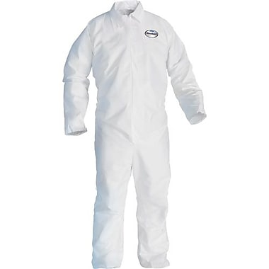 Kimberly-Clark – Combinaison avec fermeture à glissière à l'avant, Kleenguard A20, blanc, grand, 12/paquet (49003)